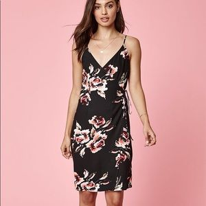 Kendall & Kylie floral wrap dress